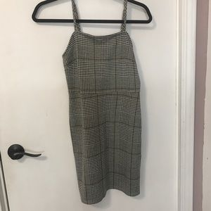 Gray plaid dress